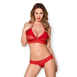 ENSEMBLE 2 PIECES ROUGE 863-SET-3 - OBSESSIVE