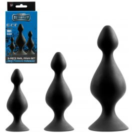 COFFRET 3 PLUGS EN SILICONE PAWN SET - DREAM TOYS