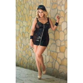 COSTUME POLICE SEXY GRANDE TAILLE - SOFTLINE