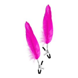 PINCES A SEINS PLUMES ROSES