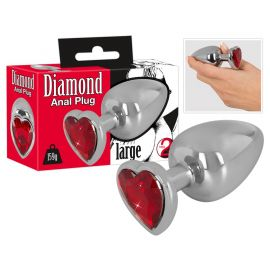 PLUG ANAL LARGE DIAMOND COEUR ROUGE - YOU 2 TOYS
