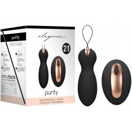 DOUBLE STIMULATEUR RECHARGEABLE 2 EN 1 PURITY NOIR - ELEGANCE