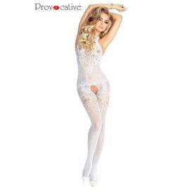 BODYSTOCKING OUVERT BLANC - PROVOCATIVE